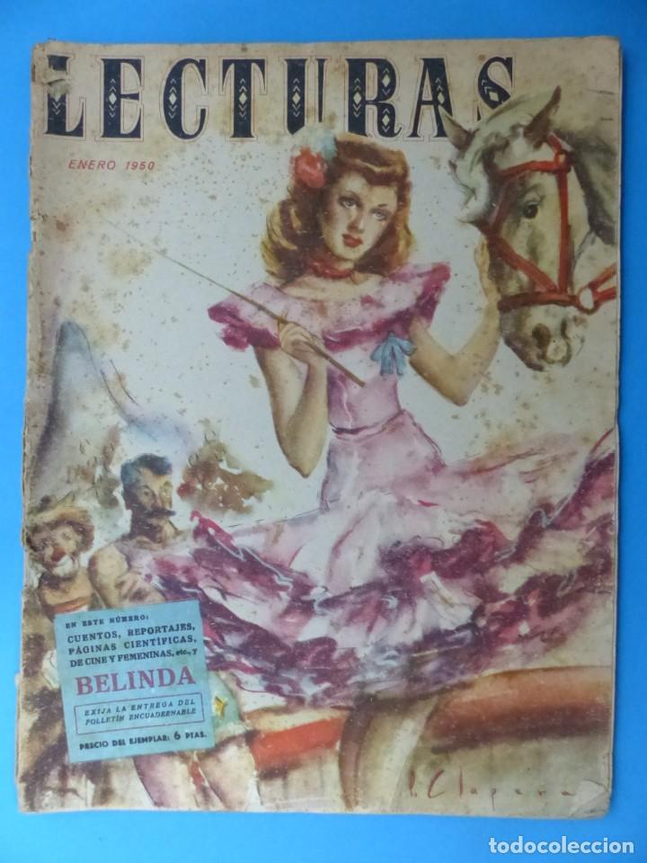 Coleccionismo de Revistas: LECTURAS, 7 ANTIGUAS REVISTAS, AÑOS 1950 - VER FOTOS ADICIONALES - Foto 8 - 186425990