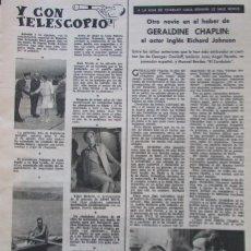 Coleccionismo de Revistas: RECORTE REVISTA LECTURAS Nº 650 1964 GERALDINE CHAPLIN. . Lote 188565581