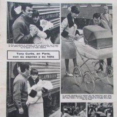 Coleccionismo de Revistas: RECORTE REVISTA LECTURAS Nº 650 1964 TONY CURTIS. Lote 188565633