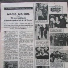 Coleccionismo de Revistas: RECORTE REVISTA LECTURAS Nº 661 1964 MARIA MAHOR. Lote 188568068