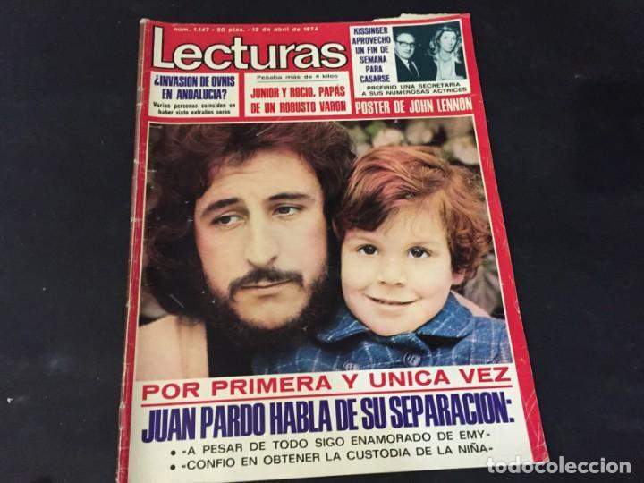 LECTURAS 1974 ESTEFANIA DE MONACO JUAN PARDO ANA BELEN YOLANDA RIOS FERNANDO SANCHO BEATLES ROSA LEO (Coleccionismo - Revistas y Periódicos Modernos (a partir de 1.940) - Revista Lecturas)