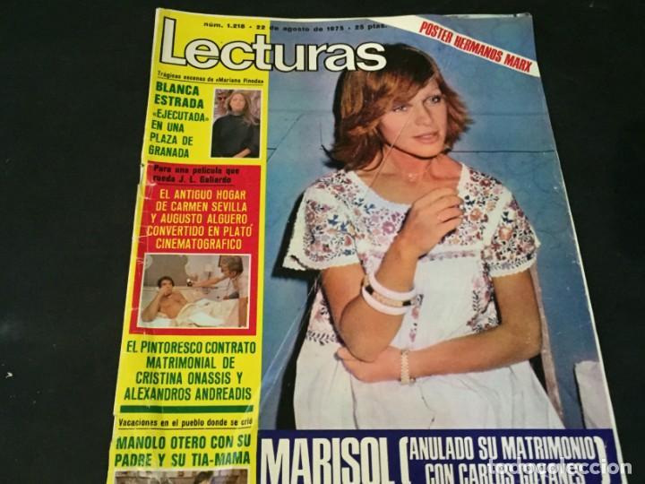 LECTURAS 1975 MANOLO OTERO PERALES JULIO IGLESIAS NUBES GRISES CHER PILAR VELAZQUEZ AUDREY HEPBURN (Coleccionismo - Revistas y Periódicos Modernos (a partir de 1.940) - Revista Lecturas)