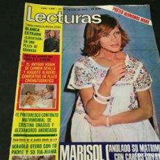 Coleccionismo de Revistas: LECTURAS 1975 MANOLO OTERO PERALES JULIO IGLESIAS NUBES GRISES CHER PILAR VELAZQUEZ AUDREY HEPBURN. Lote 218790191