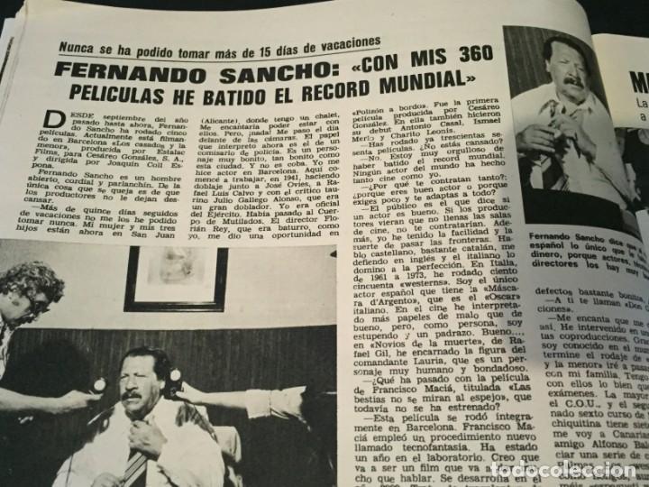 Coleccionismo de Revistas: LECTURAS 1975 MANOLO OTERO PERALES JULIO IGLESIAS NUBES GRISES CHER PILAR VELAZQUEZ AUDREY HEPBURN - Foto 5 - 218790191