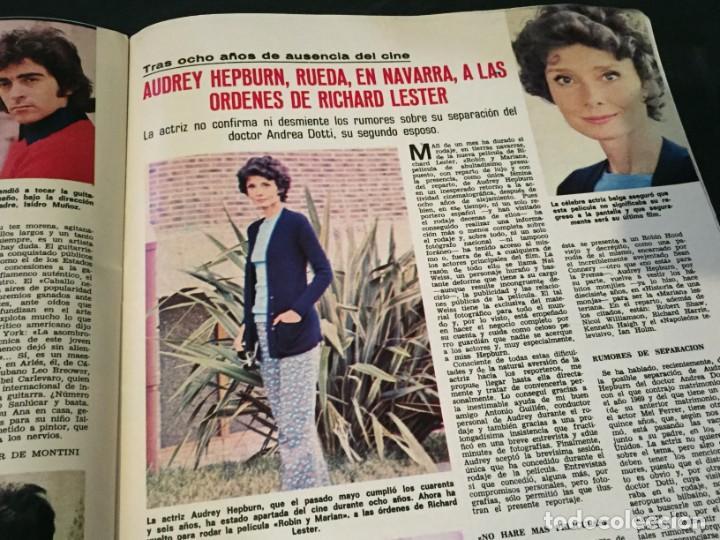 Coleccionismo de Revistas: LECTURAS 1975 MANOLO OTERO PERALES JULIO IGLESIAS NUBES GRISES CHER PILAR VELAZQUEZ AUDREY HEPBURN - Foto 18 - 218790191