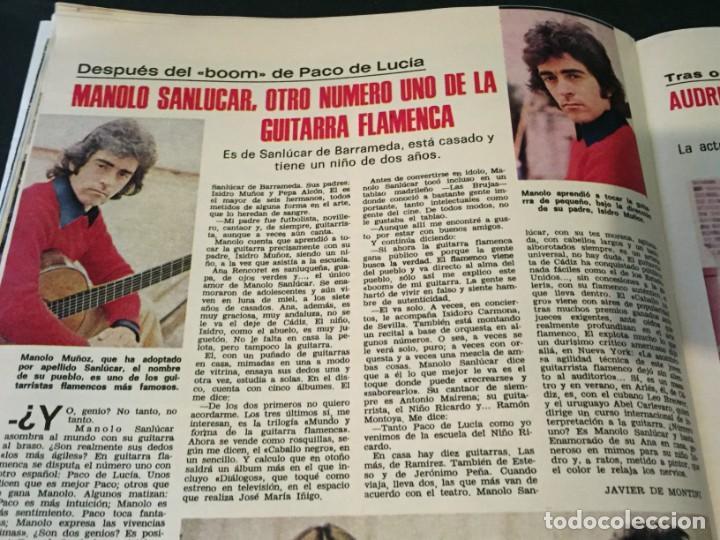 Coleccionismo de Revistas: LECTURAS 1975 MANOLO OTERO PERALES JULIO IGLESIAS NUBES GRISES CHER PILAR VELAZQUEZ AUDREY HEPBURN - Foto 19 - 218790191