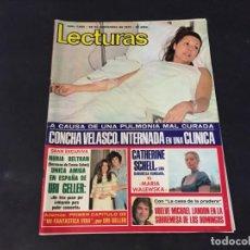 Coleccionismo de Revistas: LECTURAS 1975 LA CASA DE LA PRADERA CONCHA VELASCO URI GELLER CARMEN SEVILLA MASSIEL GIULIETTA. Lote 189311267