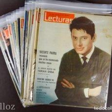 Coleccionismo de Revistas: LOTE DE 38 REVISTAS DE LECTURAS AÑO 1963. Lote 191290401