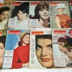 Coleccionismo de Revistas: -LECTURAS-LOTE DE 12 REVISTAS DE LECTURAS AÑOS 60 VER FOTOS. Lote 191377173