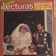 Coleccionismo de Revistas: REVISTA LECTURAS NUM 1529 DE 7 AGOSTO 1981. BODA DIANA DE GALES. Lote 191837421