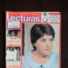 Coleccionismo de Revistas: REVISTA LECTURAS Nº 1422. 20 JULIO 1979. POSTER MIGUEL BOSE. Lote 192711505