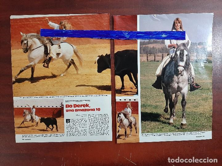 BO DEREK -ENTREVISTA EN SU VIAJE A SEVILLA MADRID -3 PAG.LECTURAS AÑO 1988 -RECORTE (Coleccionismo - Revistas y Periódicos Modernos (a partir de 1.940) - Revista Lecturas)