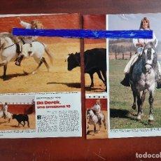 Coleccionismo de Revistas: BO DEREK -ENTREVISTA EN SU VIAJE A SEVILLA MADRID -3 PAG.LECTURAS AÑO 1988 -RECORTE. Lote 194243167