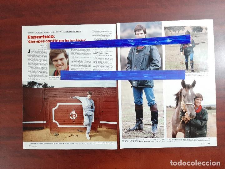 ESPARTACO SIEMPRE CONFIÉ EN LA JUSTICIA- ENTREVISTA -2 PAG.LECTURAS AÑO 1988 -RECORTE (Coleccionismo - Revistas y Periódicos Modernos (a partir de 1.940) - Revista Lecturas)