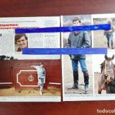 Coleccionismo de Revistas: ESPARTACO SIEMPRE CONFIÉ EN LA JUSTICIA- ENTREVISTA -2 PAG.LECTURAS AÑO 1988 -RECORTE. Lote 194243446