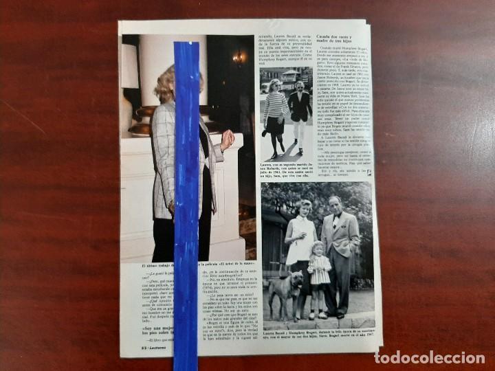 Coleccionismo de Revistas: LAUREN BACALL A SU PASO POR BARCELONA - ENTREVISTA -3 PAG.LECTURAS AÑO 1988 -RECORTE - Foto 2 - 194244032