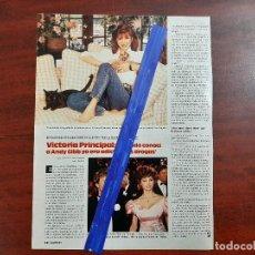 Coleccionismo de Revistas: VICTORIA PRINCIPAL - 1 PAG. - LECTURAS AÑO 1988 -RECORTE . Lote 194244842