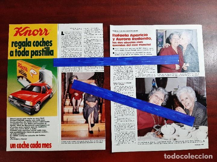 RAFAELA APARICIO Y AURORA REDONDO- ENTREVISTA - 3 PAG. - LECTURAS AÑO 1988 -RECORTE (Coleccionismo - Revistas y Periódicos Modernos (a partir de 1.940) - Revista Lecturas)