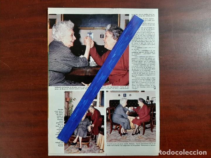 Coleccionismo de Revistas: RAFAELA APARICIO Y AURORA REDONDO- ENTREVISTA - 3 PAG. - LECTURAS AÑO 1988 -RECORTE - Foto 2 - 194245588