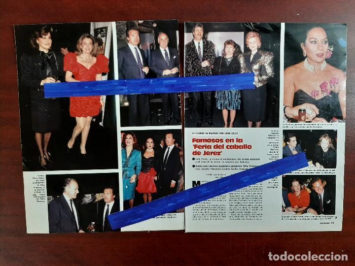 FERIA CABALLO SEVILLA- LOLA FLORES-ROSA VALENTY-MAXIMO VALVERDE 4 PAG. - LECTURAS AÑO 1988 -RECORTE (Coleccionismo - Revistas y Periódicos Modernos (a partir de 1.940) - Revista Lecturas)