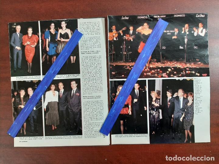 Coleccionismo de Revistas: FERIA CABALLO SEVILLA- LOLA FLORES-ROSA VALENTY-MAXIMO VALVERDE 4 PAG. - LECTURAS AÑO 1988 -RECORTE - Foto 2 - 194247281