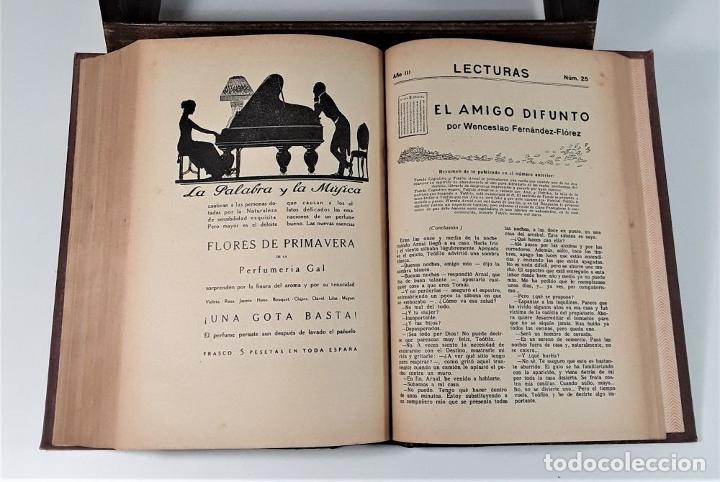 Coleccionismo de Revistas: REVISTA MENSUAL. LECTURAS. AÑO III. 6 EJEMPLARES EN I TOMO. BARCELONA. 1923. - Foto 10 - 167390988