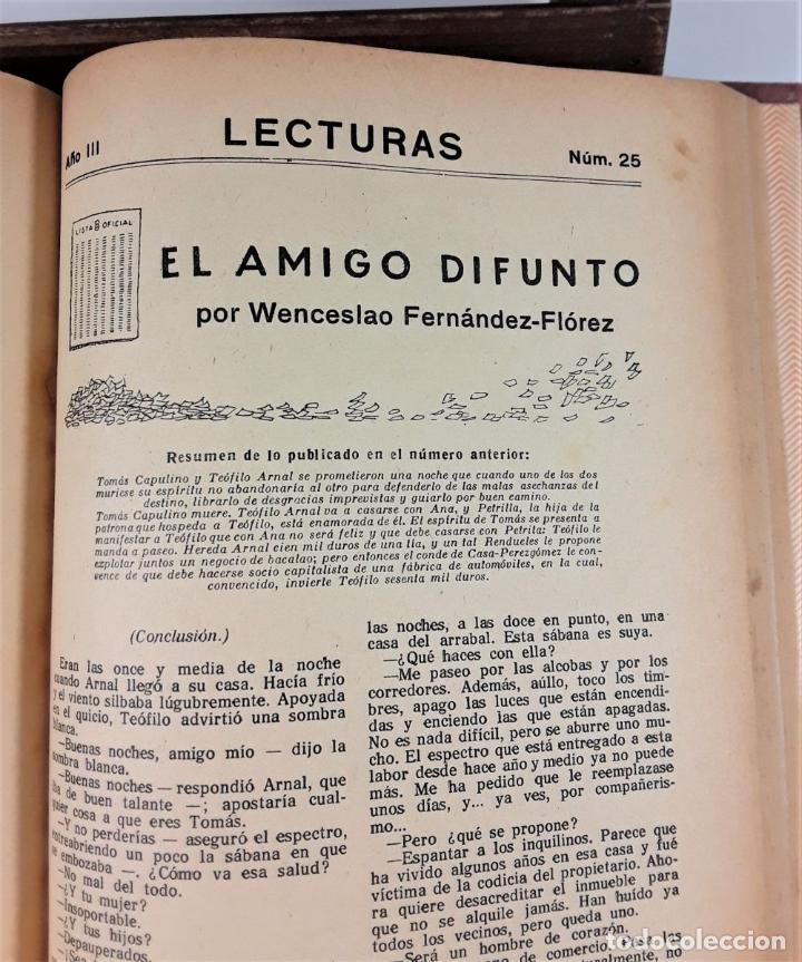 Coleccionismo de Revistas: REVISTA MENSUAL. LECTURAS. AÑO III. 6 EJEMPLARES EN I TOMO. BARCELONA. 1923. - Foto 11 - 167390988