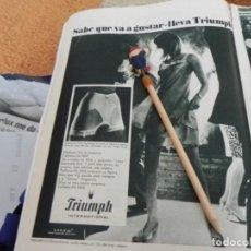 Coleccionismo de Revistas: RECORTE REVISTA LECTURAS Nº 861 AÑO 1968 / ANUNCIO PUBLICIDAD TRIUMPH. Lote 194720613