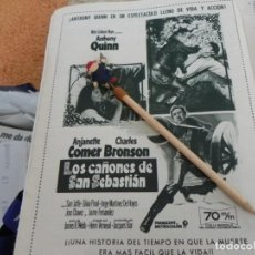 Coleccionismo de Revistas: RECORTE REVISTA LECTURAS Nº 861 AÑO 1968 / ANUNCIO PELICULA LOS CAÑONES DE SAN SEBASTIAN. Lote 194726167