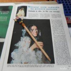 Coleccionismo de Revistas: RECORTE REVISTA LECTURAS Nº 861 AÑO 1968 / MASSIEL. Lote 194726493