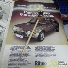 Coleccionismo de Revistas: RECORTE REVISTA LECTURAS Nº1472 AÑO 1980 / ANUNCIO PUBLICITARIO COCHE NUEVO RITMO CLX. Lote 194734136
