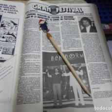Coleccionismo de Revistas: RECORTE REVISTA LECTURAS Nº1472 AÑO 1980 / GRAN FESTIVAL JERONIMO VENCERDOR DEL FESTIVAL BENIDORM. Lote 194734860