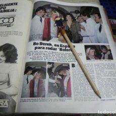 Coleccionismo de Revistas: RECORTE REVISTA LECTURAS Nº1610 AÑO 1983 / BO DEREK. Lote 194786387