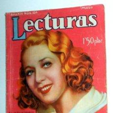 Coleccionismo de Revistas: REVISTA LECTURAS Nº154 MUY ANTIGUA AÑO 1934 - PUBLICIDAD CAFÉ MOKA ARMISEN ZARAGOZA - VINTAGE. Lote 195138655