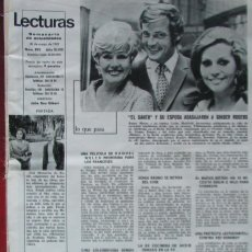 Coleccionismo de Revistas: RECORTE REVISTA LECTURAS Nº 893 1969 ROGER MOORE, GINGER ROGERS. Lote 195183751