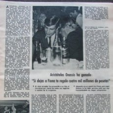 Coleccionismo de Revistas: RECORTE REVISTA LECTURAS Nº 893 1969 ARISTOTELES ONASSIS. GRACE KELLY, RAINIERO MONACO. Lote 195183970