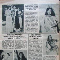 Coleccionismo de Revistas: RECORTE REVISTA LECTURAS Nº 893 1969 MISS EUROPA, IRENE OAOAS, SUSAN HAMPSHIRE. Lote 195184183