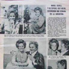Coleccionismo de Revistas: RECORTE REVISTA LECTURAS Nº 893 1969 MARIA SCHELL, VOTR ROLIN. Lote 195184251