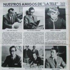 Coleccionismo de Revistas: RECORTE REVISTA LECTURAS Nº 893 1969 FELIX RODRIGUEZ DE LA FUENTE, JESUS ALVAREZ, JULIO RICO.... Lote 195184327