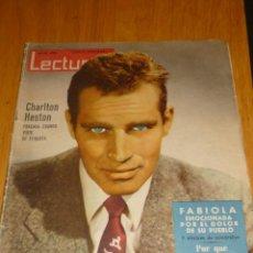 Coleccionismo de Revistas: REVISTA LECTURAS Nº 493 - AÑO 1961 CHARLTON HESTON, CARMEN SEVILLA, SORAYA, SOFIA LOREN. Lote 195212798