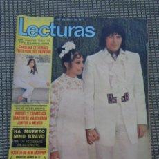Coleccionismo de Revistas: MUERTE NINO BRAVO. BODA TONY RONALD, PICASSO - CAROLINA DE MONACO - FRANCE GALL ... LECTURAS 1973. Lote 195417428
