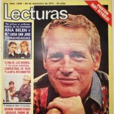 Colecionismo de Revistas: REVISTA LECTURAS 1236 PAUL NEWMAN TRIO LA LA LA LOS MISMOS MARISA MEDINA INGER NILSSON BURT REYNOLDS. Lote 196300321
