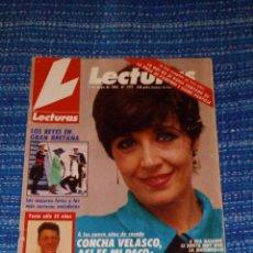 Coleccionismo de Revistas: VENDO REVISTA LECTURAS, 6/5/1986 (CONCHA VELASCO, ASÍ ES MI PACO), VER MAS FOTOS.. Lote 197023598