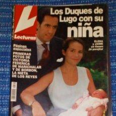 Coleccionismo de Revistas: VENDO REVISTA LECTURAS, 22/9/2000, (LA DUQUESA DE LUGO CON SU NIÑA), VER MAS FOTOS.. Lote 197024745