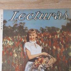 Coleccionismo de Revistas: REVISTA LECTURAS MAYO DE 1954 CON REFUERZO EN EÑ CANTO VER FOTOS DESGASTE DEL TIEMPO Y MARCAS PERFOR. Lote 197591942
