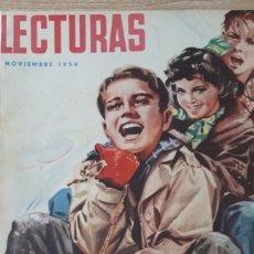 Coleccionismo de Revistas: REVISTA LECTURAS NOVIEMBRE DE 1954 CON CANTO REFORZADO VER FOTO. Lote 197649878