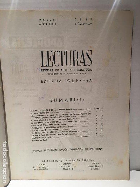 Coleccionismo de Revistas: ANTIGUA REVISTA LECTURAS AÑO 1942 - UNICA Y EXCLUSIVA - Foto 7 - 198295420