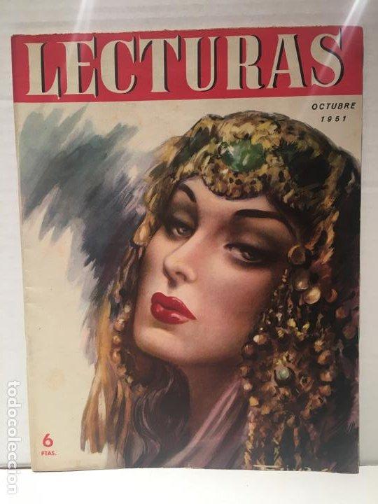 ANTIGUA REVISTA LECTURAS AÑO 1951 - UNICA Y EXCLUSIVA (Coleccionismo - Revistas y Periódicos Modernos (a partir de 1.940) - Revista Lecturas)