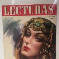 Coleccionismo de Revistas: ANTIGUA REVISTA LECTURAS AÑO 1951 - UNICA Y EXCLUSIVA. Lote 198296021
