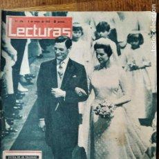 Colecionismo de Revistas: LECTURAS Nº 576 DE 1963- BODA KENT- GRETA GARBO- SOFIA LOREN- MARTHA HYER- FRANSCISKA- GRACE MONACO.. Lote 198822446